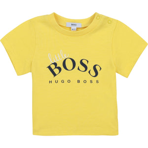 PRE ORDER  HUGO BOSS BABY BOY SHORT SLEEVES TEE-SHIRT YELLOW