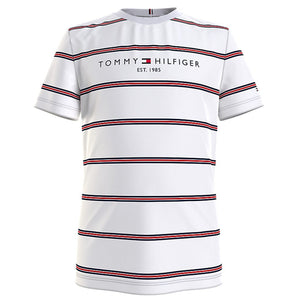 TOMMY HILFIGER  ESSENTIAL STRIPE T-SHIRT White