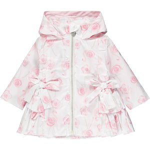 Little A LS21201 JaedaBright White Flamingo Print Jacket
