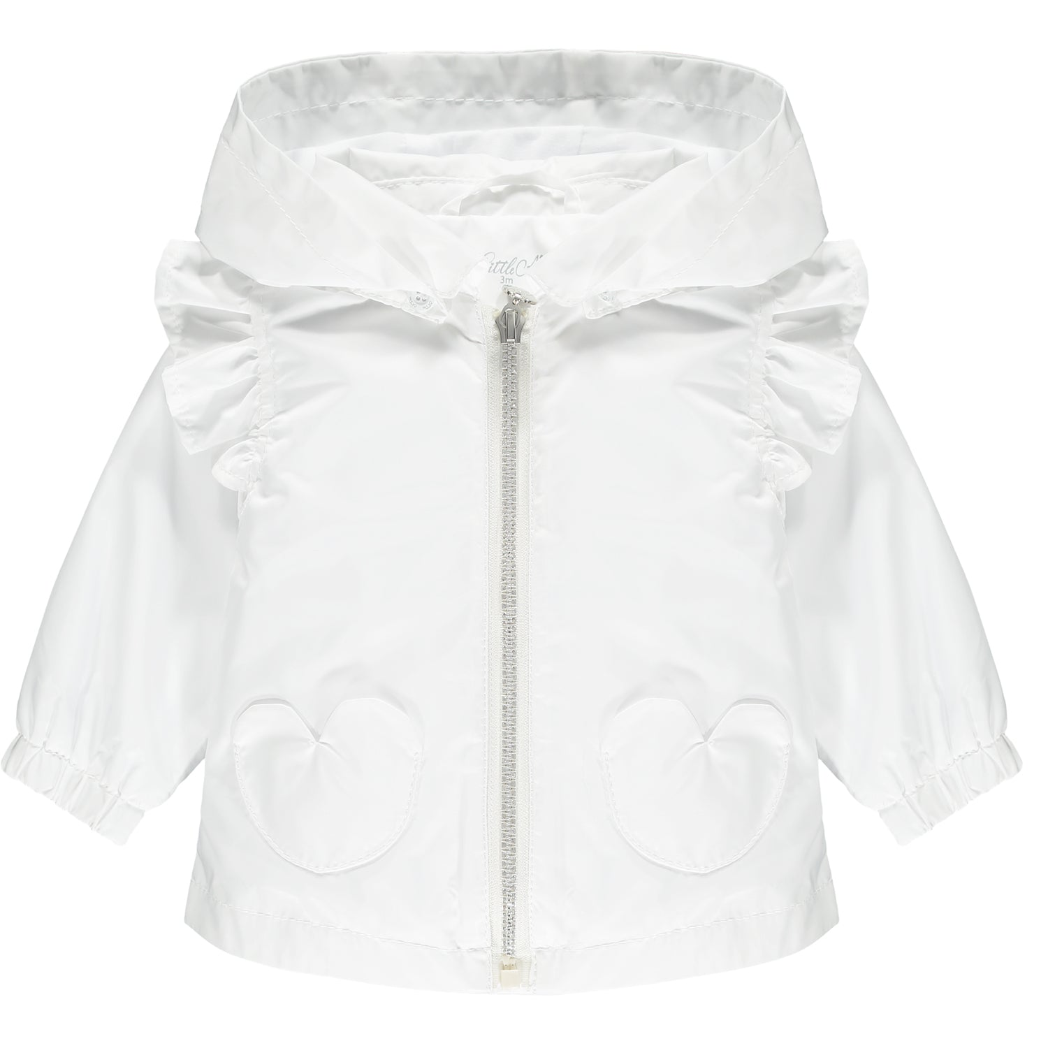 Little A LS21214 Kenya Bright White Love Heart Jacket