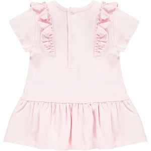 Little A LS21702 Jainey Baby Pink Sparkle Bow Dress