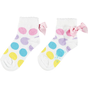 ADEE S213910 NIGELA DOTTY ANKLE SOCK WHITE
