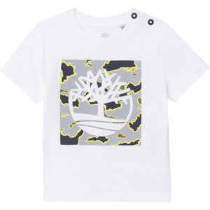 TIMBERLAND BOYS  T05J87 SHORT SLEEVES TEE-SHIRT WHITE