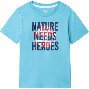 TIMBERLAND BOYS  T05J89 SHORT SLEEVES TEE-SHIRT BLUE