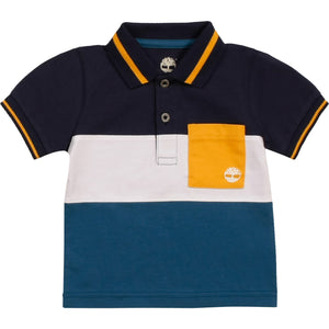 PREORDER  TIMBERLAND BOYS  T05K10 SHORT SLEEVE POLO GREY  YELLOW