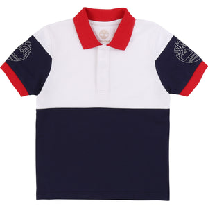 Timberland T25Q84 Short Sleeve Polo T-Shirt Navy