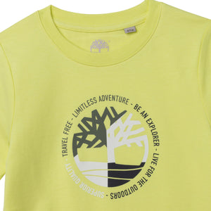 TIMBERLAND BOYS  T25R74 SHORT SLEEVES TEE-SHIRT CITRINE