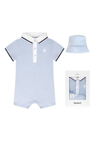 TIMBERLAND BOYS T98295 ALL IN ONE + PULL ON HAT PALE BLUE