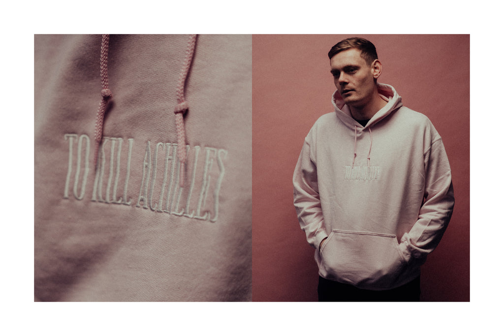 Embroidered Logo Pink Hoodie