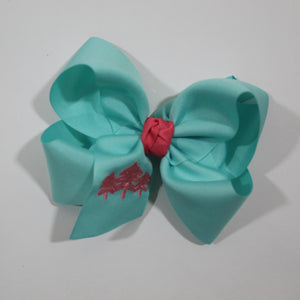 Three Trees Embroidered Hair Bow