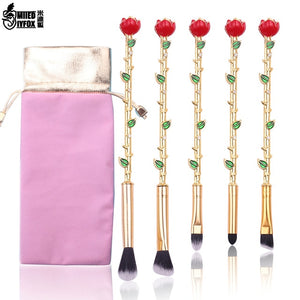 Open image in slideshow, 2021 Beauty and the Beast Rose Makeup Brushes Set - Panashe Essence