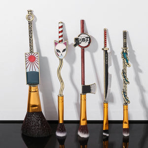 5pcs  Demon Slayer Anime Makeup  Brush Kit - Panashe Essence