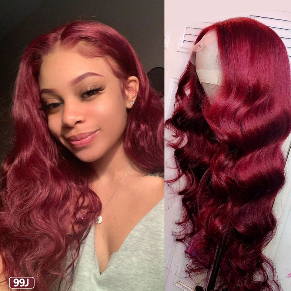 Red Lace Front Human Hair Wigs - Panashe Essence