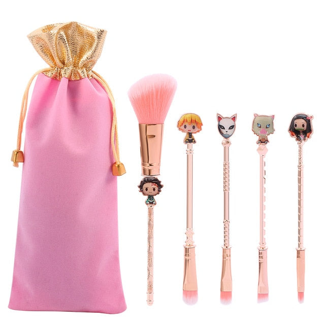2021 New Rose Gold Demon Slayer Makeup Brush set - Panashe Essence