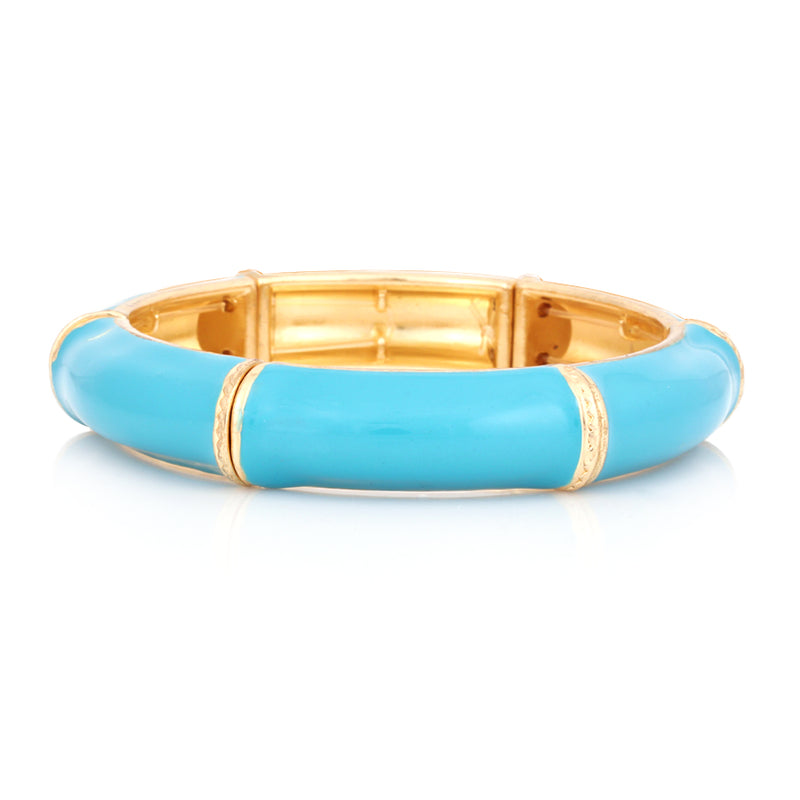 Gold Plated Turquoise Hinged Bracelet
