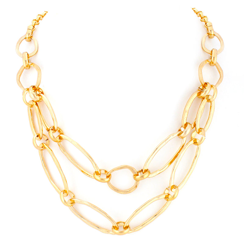 Gold-Tone Metal Linl Necklace