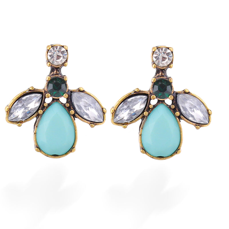 Mintcolor Stone And Crystal Earring