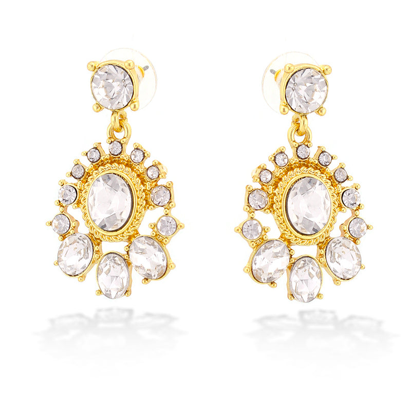 Gold-Tone Metal Simulated Crystal Earring