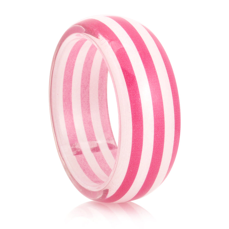 Pink And White Stripe BANGLES