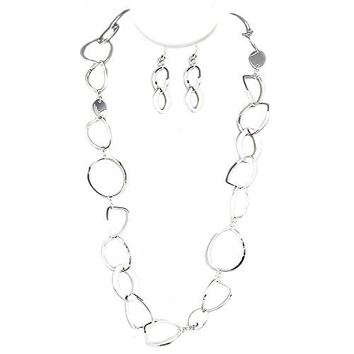 Chunky Link Necklace and Earrings Set