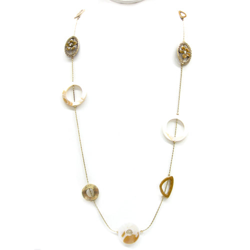 GOLD-CREAM NECKLACES