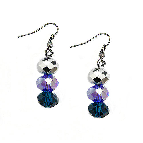 SILVER-TEAL EARRINGS