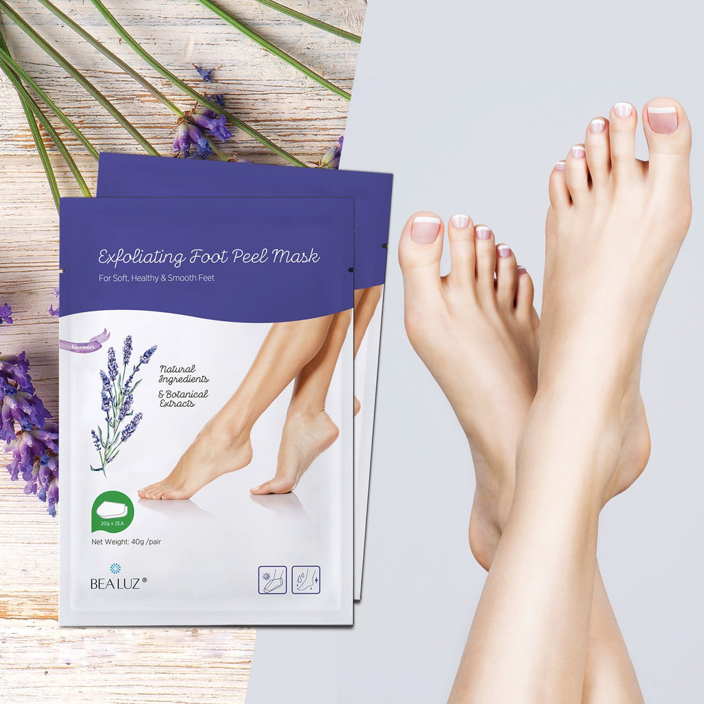 2 Pairs Foot Peel Mask Exfoliant for Soft Feet in 1-2 Weeks