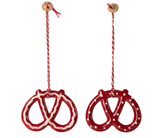 Metal ornament, Pretzel 2 varianter - 1 stk