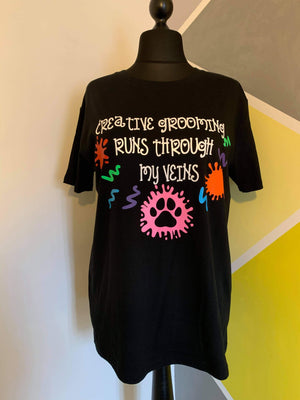 Unique Custom Made Creative Grooming T-shirt size x large
