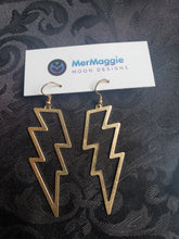 Load image into Gallery viewer, Cosmic Lightning Bolt Cutout Earrings