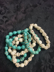 Skull Beaded Stretch Bracelets