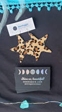 Load image into Gallery viewer, Genuine Leather Cowhide Star Earrings
