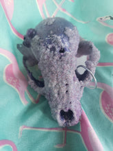 Load image into Gallery viewer, Amethyst Crystal Raccoon Small Skull