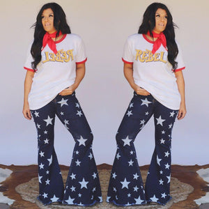 Dark Denim Star Jean Bell Bottoms