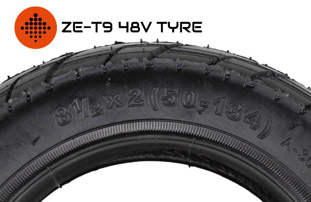 ZERO ESCOOTERS ZE-T9 48V 8.5 x 2.0 INCH FRONT & REAR PNEUMATIC TYRES - Zero E-Scooters