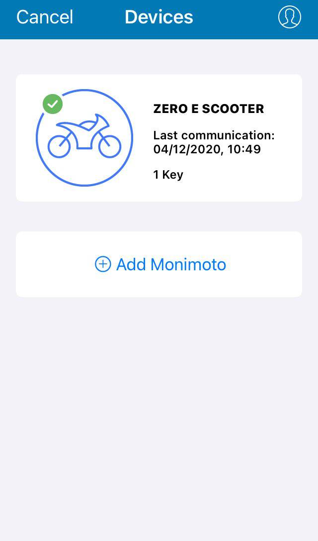 Monimoto MM5 GPS Tracker Alarm System Mobile Phone Screenshot - Zero E-Scooters