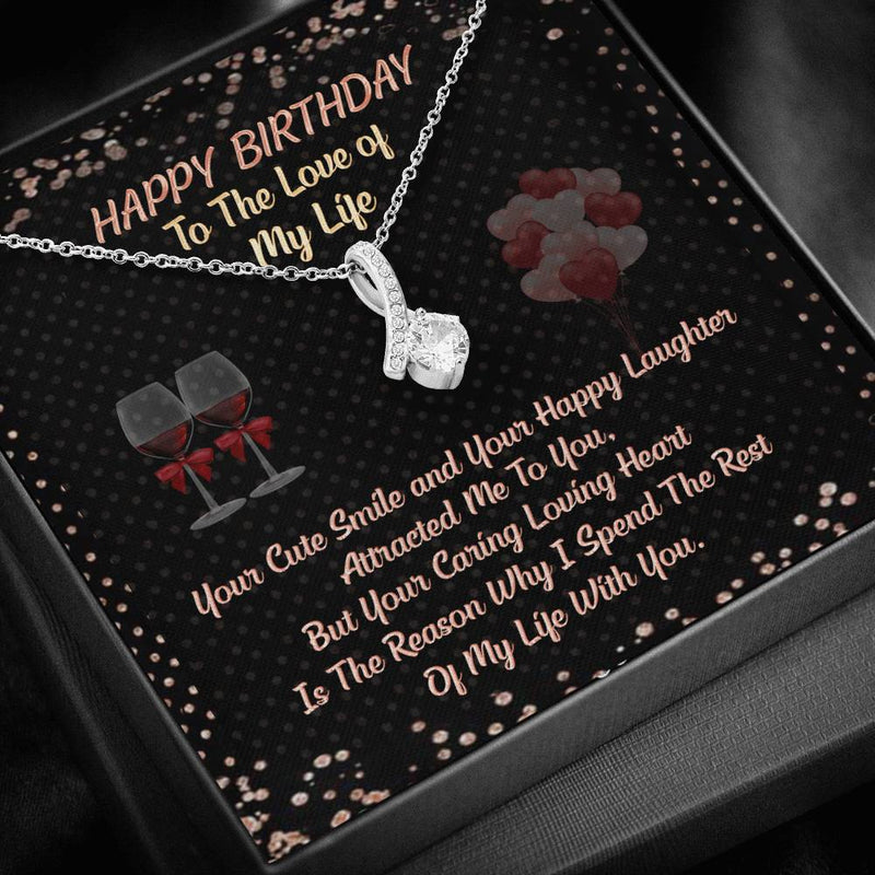 "To My Wife ""Happy Birthday"" Alluring Beauty Necklace"