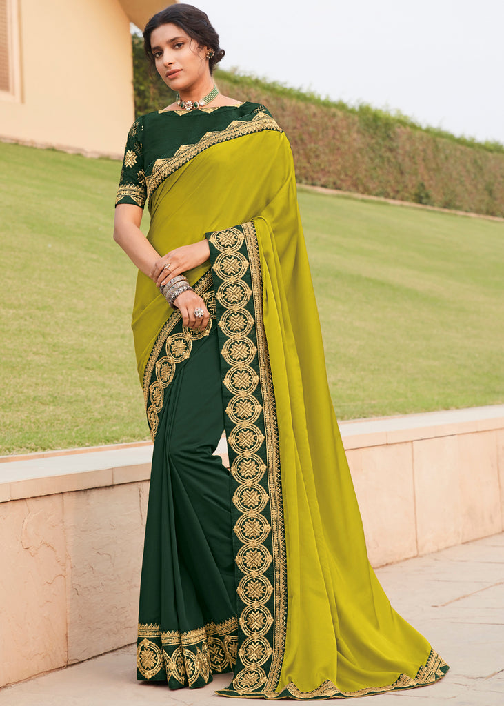 MINT GREEN WOVEN DESIGNER SILK SAREE