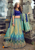 GORGEOUS ROYAL BLUE LEHENGA WITH EMBROIDERED BLOUSE AND BANARASI DUPATTA