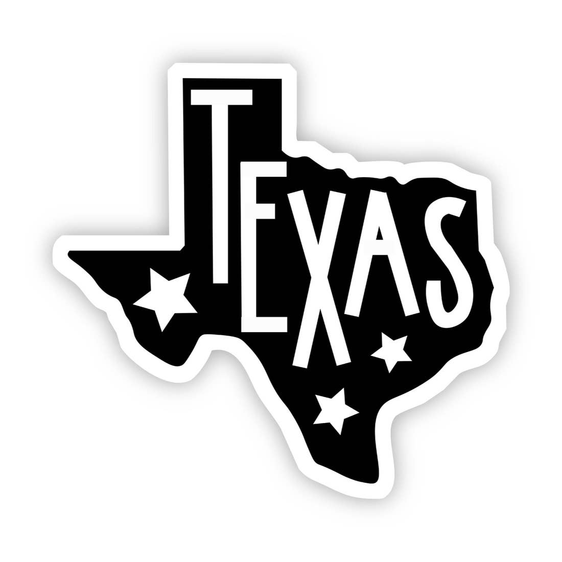 Texas With Stars Sticker