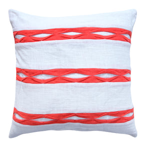 Eyelets Throw Pillow