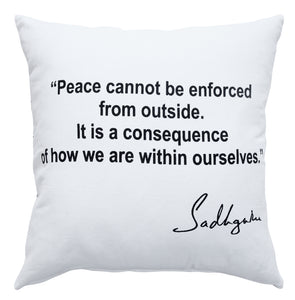 Peace Inspirational Quote Pillow
