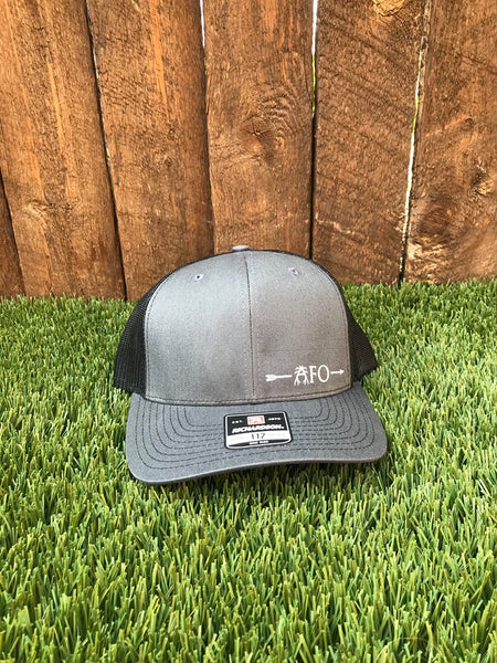 Gray and Black Mesh Hat