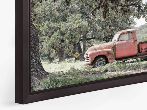 """Red Roads of Texas Print Mounted and Framed in a Brown """"Float Frame"""""""