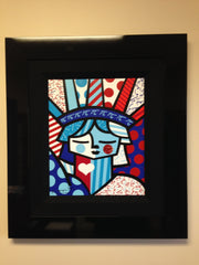9D - FREEDOM Romero Britto 2012 - Out of 300 Limited Edition Print - size is 20 X 16.5 Embellished and Hand Signed.
