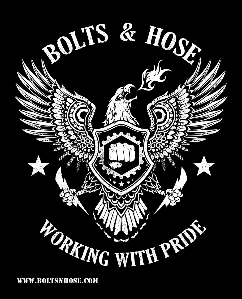 Bolts & Hose™ Working With Pride Poster - Bolts & Hose