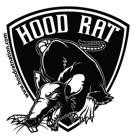 Hood Rat Nation Decal for motorcycle riders and tradesmen