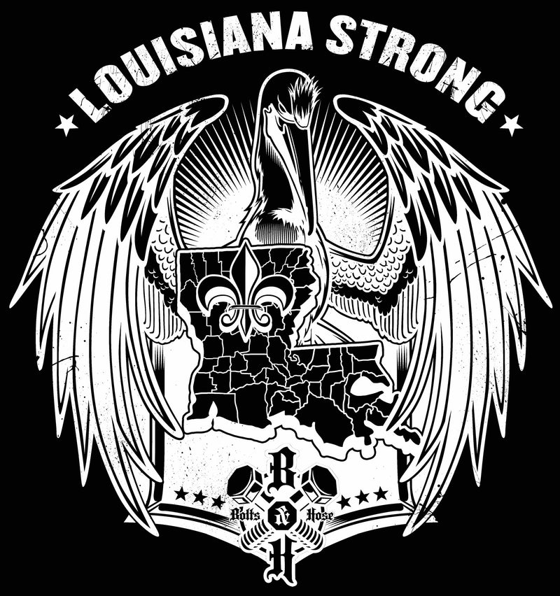 Louisiana Flood Relief, Louisiana Strong Die Cut Decal (Multiple Sizes Available)