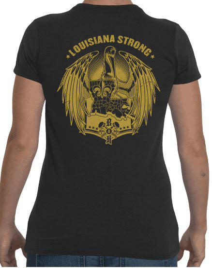 Louisiana Strong (Women's Regular Tee Gold)