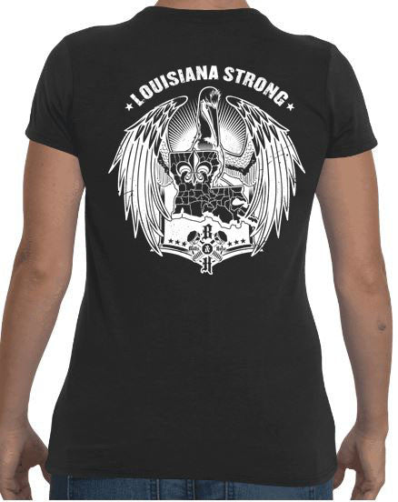 Louisiana Strong (Women's Regular Tee White)